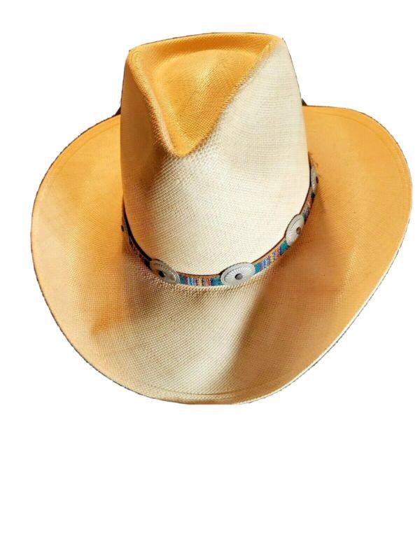 Stetson Hat Cowboy John 7X Small Genuine Shantung Straw Western Country 6 7/8