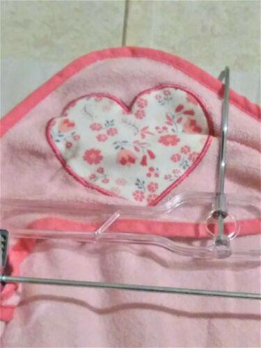 Preowned Rene Rofe Baby Heart Design Hooded Bath Towel