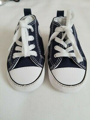 CONVERSE Chuck Taylor ALL STAR Baby Infant Crib Shoes NAVY Blue Size 3 #88865