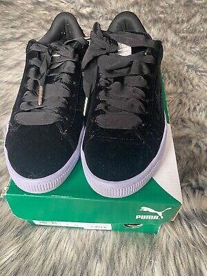 Puma Basket Classic Velour black sneakers size 5