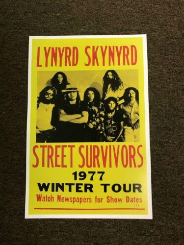 Lynyrd Skynyrd Street Survivors 1977 Winter Tour Cardstock Concert Poster 12x18