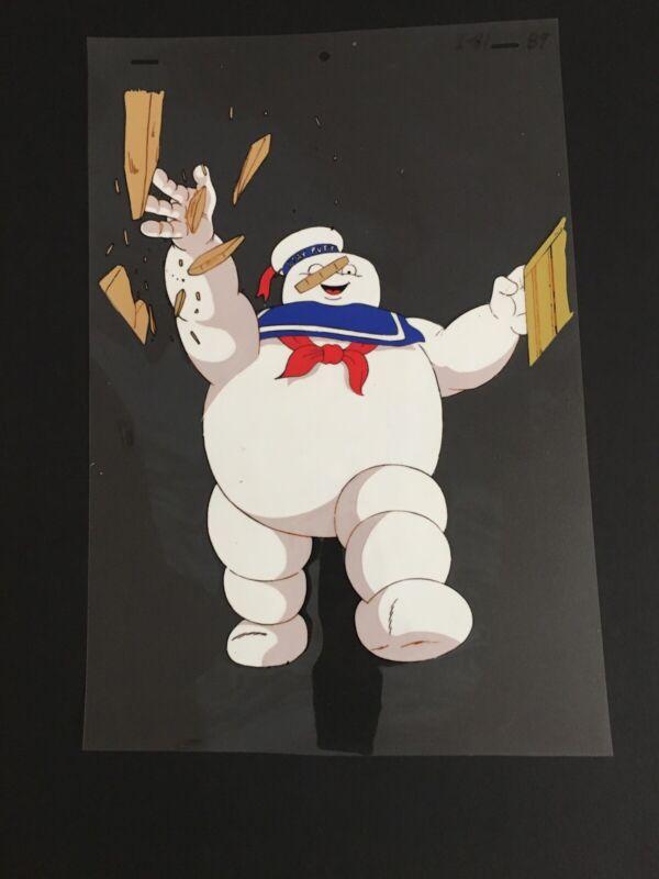 ORIGINAL 1986 REAL GHOSTBUSTERS - STA PUFT MAN CEL w/ORIGINAL ARTWORK - LARGE