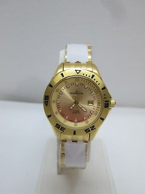 New in the Box Ladies Mount Royal Gold tone Stainless Steel Watch