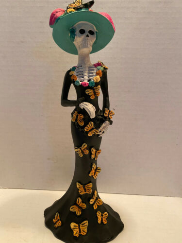 Day of the Dead Catrina with Butterflies Figurine 9.5 Inches