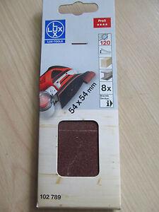 8 x Schleifpapier für Black&Decker 54 x 54 mm 120 K