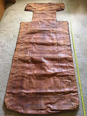 Vintage Cowboy Sleep Roll Leather Cover Western