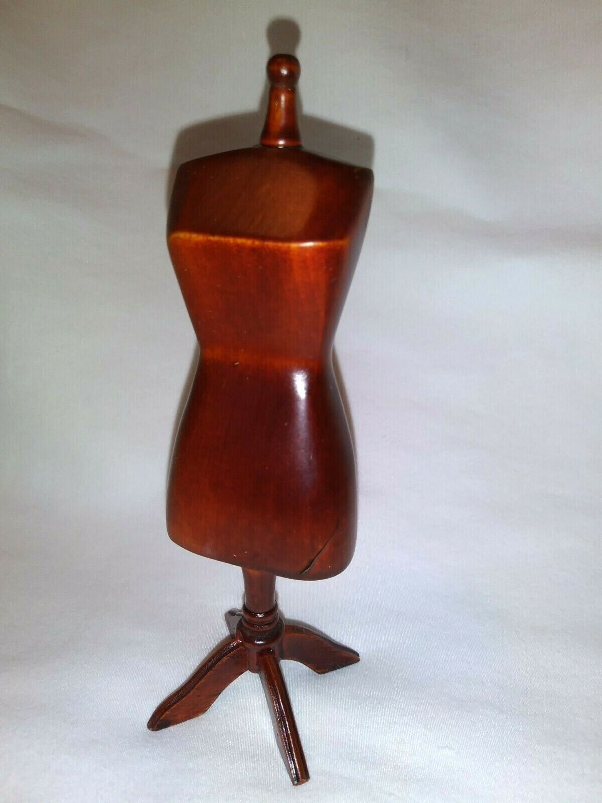 Dollhouse Sewing Room Dress Form Mannequin - Wooden Miniature  - $7.00