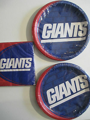 New York Giants NFL Fußball Party Zubehör inklusive Teller & Servietten Neu ()