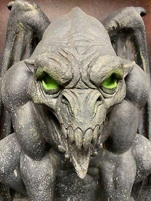 Aged Demon Halloween Haunted Gargoyle Prop Decoration Castle Decor Distortions (Halloween Haunted Castle Props)
