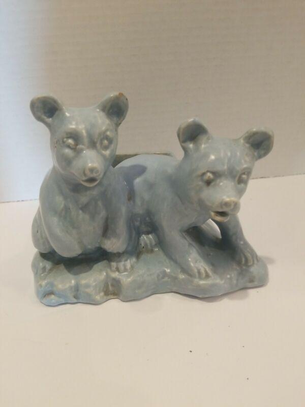 Blue Bear Ceramic Planter