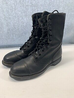 Vintage 1991 Biltrite Combat Jump Boots Military Issue Steel Toe Size 9 -
