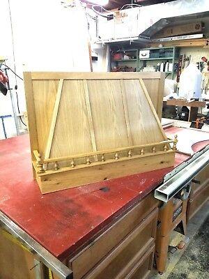 """Wood range vent hood cover canopy rustic 36"""""""