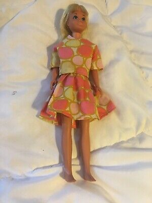 Vintage Barbie sister SKIPPER Malibu #1060 Japan Mattel doll Homemade Dress