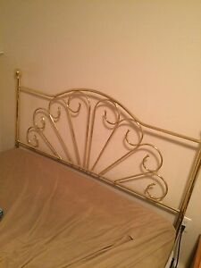 Queen size brass head board