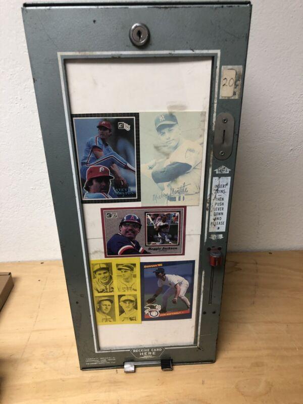 1950's Exhibit Card Vending Machine With Movie Stars Cove Sheet Baseball