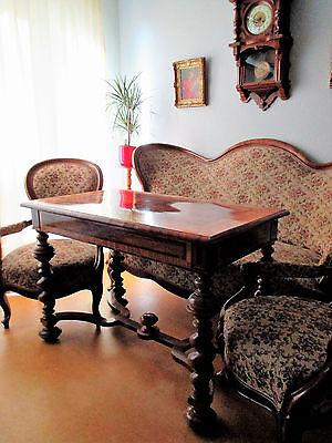 Louis Philippe Couch + 2 Stühle Sessel (ohne Tisch) Fledermaus Sofa Gründerzeit