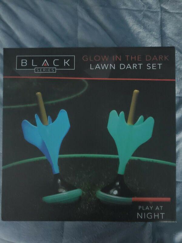 Black Series - Glow in the Dark Lawn Dart Set - New - Game - Outdoor Fun