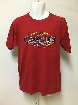 Wet Tshirt Contest (Aeropostale Men's Red Cancun Mexico T-Shirt Size Large Wet Wild Bikini)