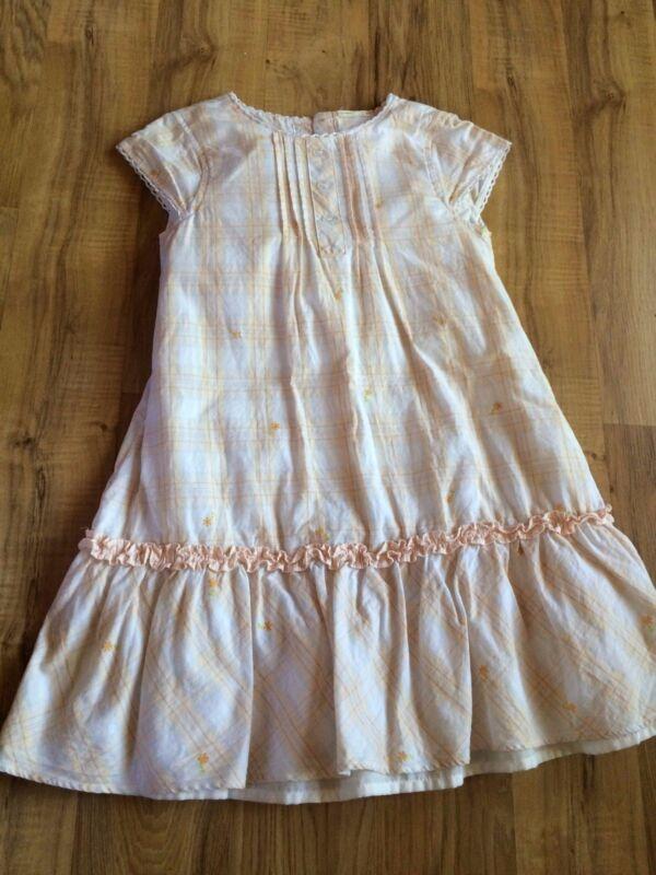 Vintage Orange Floral Girls Dress