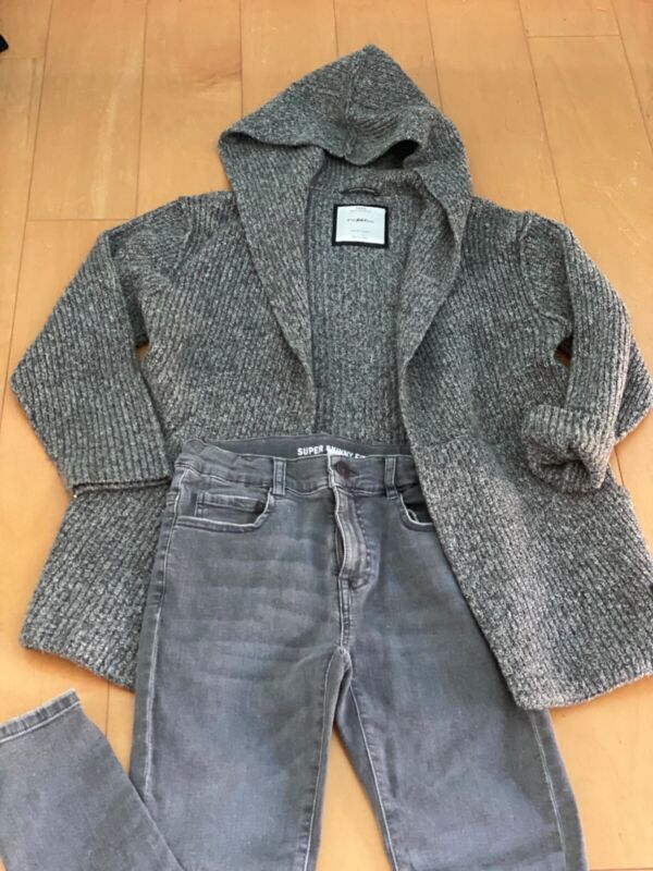 Zara Kids Boys Set Outfit Chunky Knit Sweater 10 Skinny Jeans 11/12