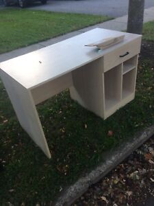 Desk and shelf available for free