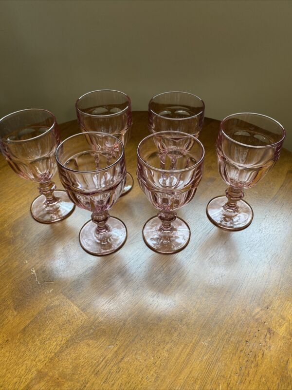 Libby Duratuff Pink Ice Tea Glasses Set Of 6