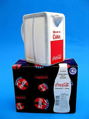 """Coca-Cola"""" Diner Style"""" Ceramic CREAMER  Enesco 1999 New in Box Retired"""
