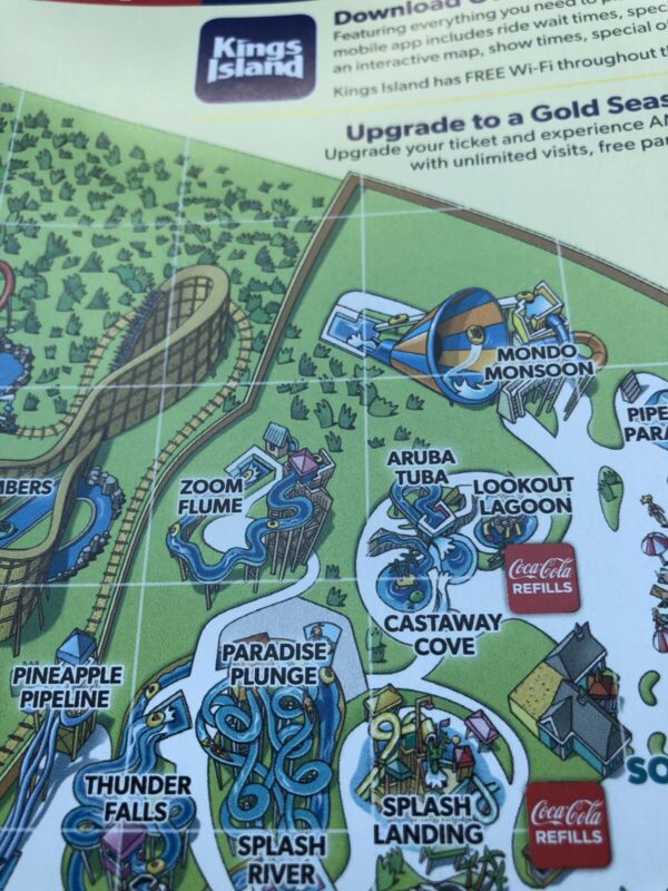 2019 Kings Island Amusement Park Map Guide And Show schedule
