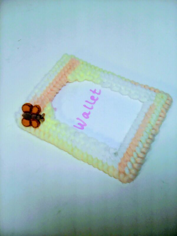 Handmade Canvas Girls Wallet Photo Picture Frame W/ Butterfly