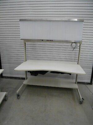 60 X 36 X 74 Laboratory Benchtable With S. S. 200004 X-ray Film Illuminator