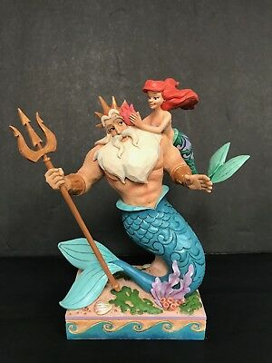 Disney Jim Shore Figurine Little Mermaid  NEW 2018 Ariel and Triton #4059730