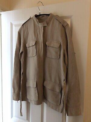 Joseph Military Style Linen Jacket