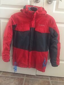 Boys Columbia 3 in 1 winter Jacket and Snowpants sz 10/12