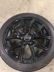 """17"""" Black Alloy wheels. With like new tires! Must go! OBO"""