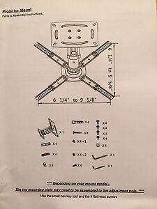 Support de plafond pour projecteur /Projector Mount