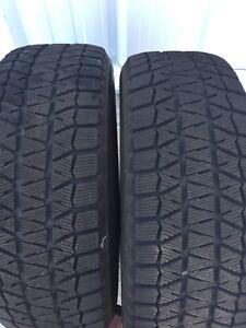 (2) Bridgestone 235/65R16 Blizzak WS80 Tires Only!