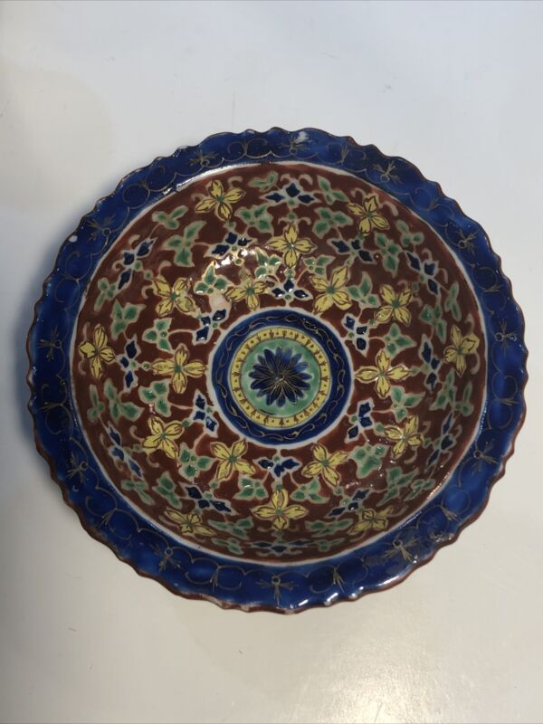Antique Thai Bencharong Painted Porcelain Dish