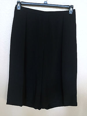 $89 (NWT) Women's Calvin Klein Black Cropped Trousers Gaucho Capri Plus Size 14W