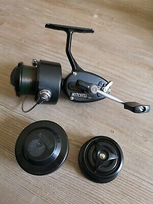 Vintage Mitchell 300C Fishing Reel With Spare Spool Excellent Condition