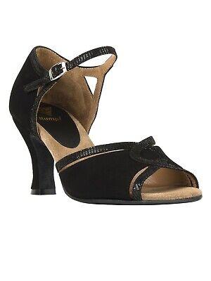Tanzschuhe Damen Standard Bachata Latein Rumpf Premium Line 9141 Tanz Schuhe blk