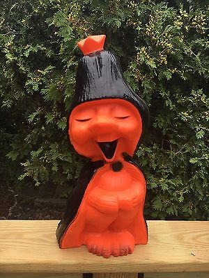 RARE Vintage Halloween Blow Mold Tweat Union Products troll witch