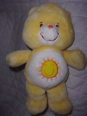 """2004 Care Bears Funshine Bear yellow Sound 13"""" Soft Toy Plush Stuffed Animal for sale  Shipping to Canada"""