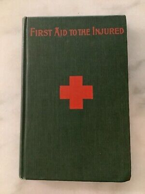 """Antique Medical Book """"Handbook of First Aid to the Injured"""" Bodwitch Morton"""