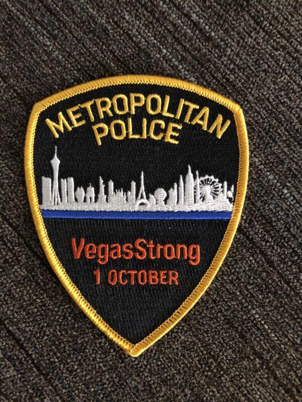 LAS VEGAS METRO POLICE VEGAS STRONG OCTOBER 1 PATCH 10-1-17 LVMPD VGK ROUTE 91