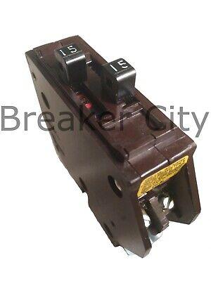 Wadsworth 15 Amp 2-pole Type B1515 Twin Tandem Pole Metal Tab Circuit Breaker