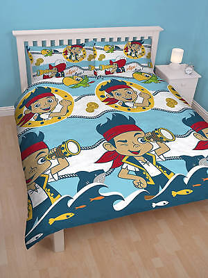 Children Jake And The Neverland Pirates Reversible Double Duvet Bedding Set - Jake And The Neverland Pirates Bedroom