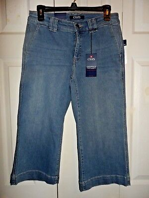Cute Chaps size 6P cropped trouser jeans ladies women NWT