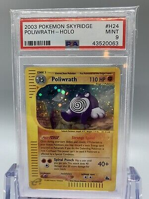 💦 Poliwrath Holo - Pokemon Skyridge Set - PSA 9 - MINT🌱