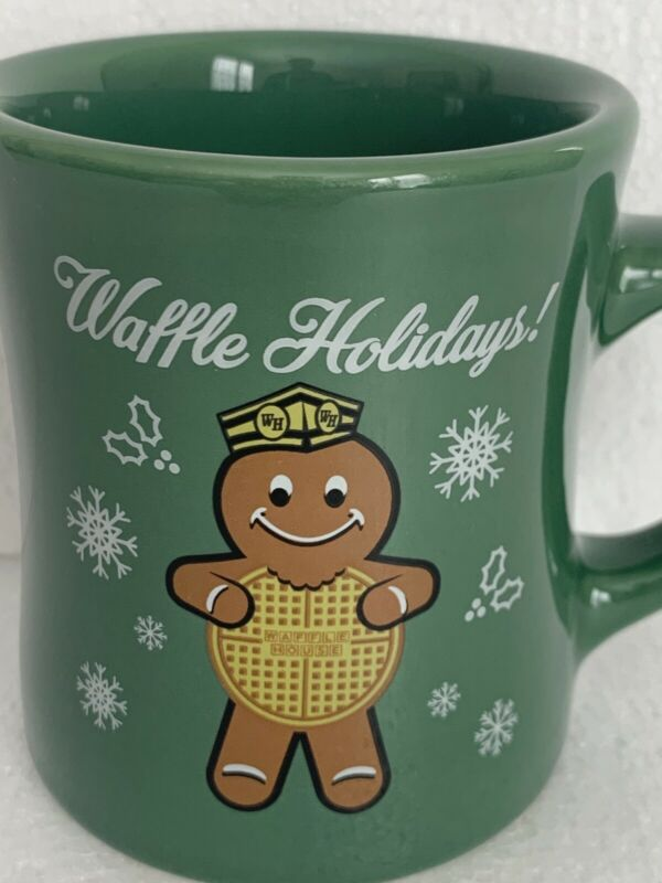 Waffle House 2016 Waffle Holidays! Gingerbread Man Diner Coffee Cup Christmas