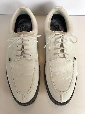 Peter Millar G/Fore G4 Gallivanter Men's White Golf Shoes Size 13 Excellent Cond